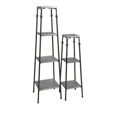 Glamorous Gilbert 2 Piece Galvanized Shelves Set