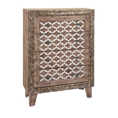 Emersons Green Wood 4 Drawer Accent Chest