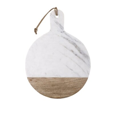 Peyton Classy Marble and Wood Cheese Board
