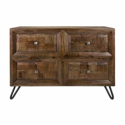 Aslan Hairpin Legs 4 Drawer Accent Chest