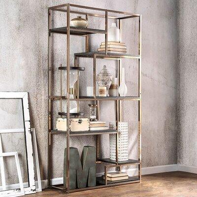 "70.25"" H x 38"" W Elvira Contemporary Display Shelf Finish: Champgne"