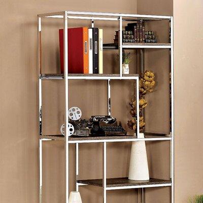 """70.25"""" H x 38"""" W Elvira Contemporary Display Shelf Finish: Chrome"""