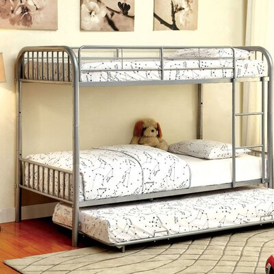 Silkeborg Twin/Twin Bunk Bed Bed Frame Color: Silver