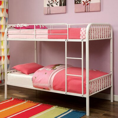 Silkeborg Twin/Twin Bunk Bed Bed Frame Color: White