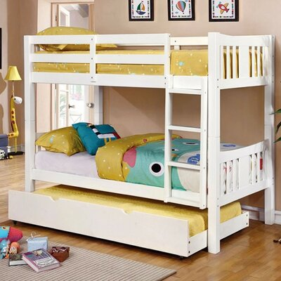 Hidden Hills Twin/Twin Bunk Bed Bed Frame Color: White