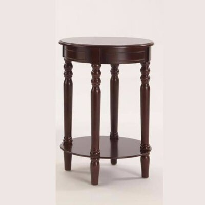 Pharsalia Round Wooden Console Table Color: Brown