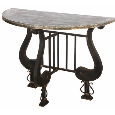 Ellettsville Antique Upgraded Demilune Console Table