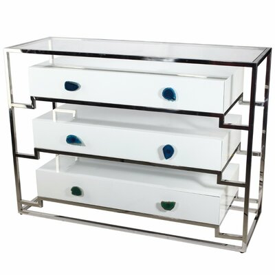 Charie 3 Drawer Accent Chest