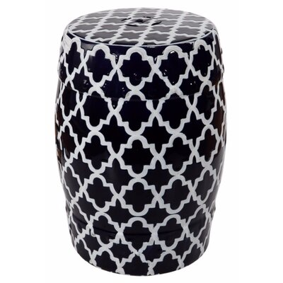 Elington Finely Structured Contemporary Garden Stool