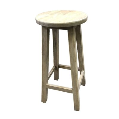Kaushal Enthralling Wooden Accent Stool