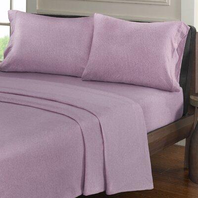 Creve 100% Cotton Sheet Set Size: Full, Color: Purple