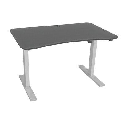 "Electric Push Button Standing Desk Size: 45"" H x 30"" W x 48"" D, Finish: Lava Stone / White"