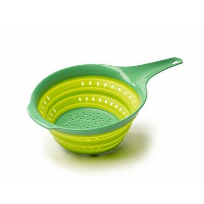 """Plastic Colander Size: 1.4"""" H x 15"""" W x 7.5"""" D, Color: Green"""
