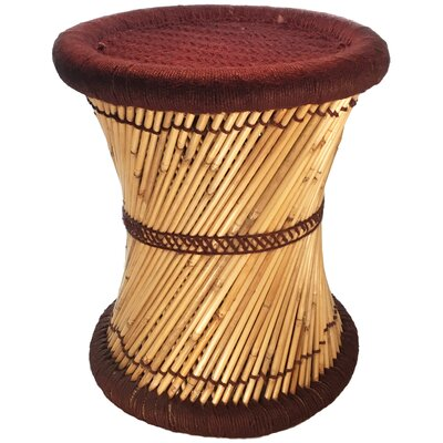 Moray Decorative Jute Accent Stool Color: Brown