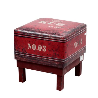Square Stool Color: Red