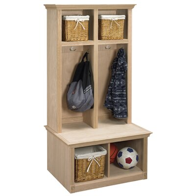 2 Piece Sit and Store Hall Tree Set Color: Dark Cherry
