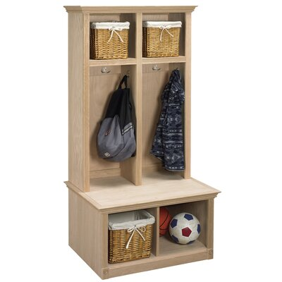 2 Piece Sit and Store Hall Tree Set Color: Unfinished Maple