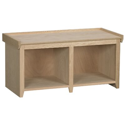 Wood Storage Bench Color: Caf