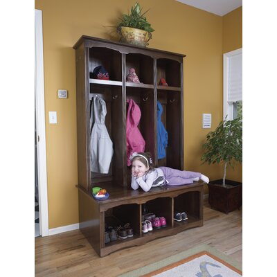 Regal 2 Piece Sit and Store Hall Tree Set Color: Unfinished