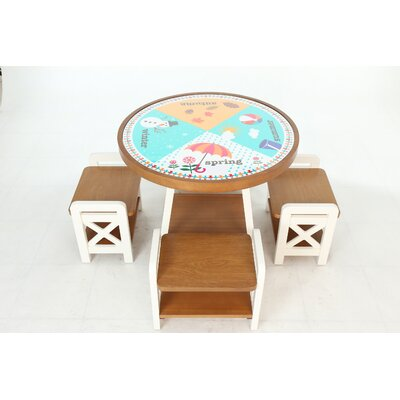 "Seasons Circular Activity Table Size: 22.2"" H x 29.1"" W x 29.1"" D"