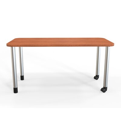 Panther Training Table with Wheels Tabletop Finish: Amber Cherry, Size: 29'' H X 72'' W X 36'' D