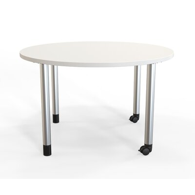 Panther Training Table with Wheels Tabletop Finish: Frosty White, Size: 29'' H X 42'' W X 42'' D