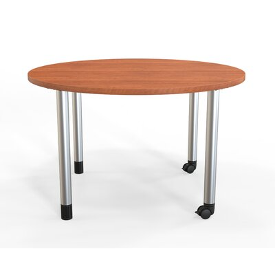 Panther Training Table with Wheels Tabletop Finish: Amber Cherry, Size: 29'' H X 42'' W X 42'' D