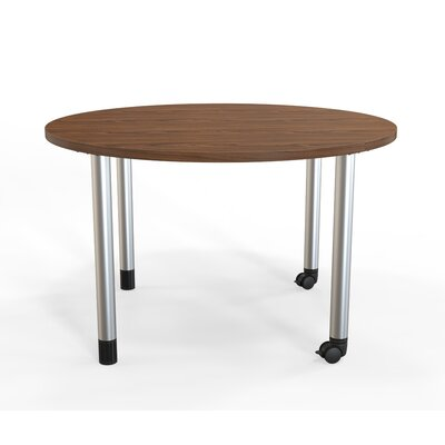 Panther Training Table with Wheels Tabletop Finish: Montana Walnut, Size: 29'' H X 42'' W X 42'' D