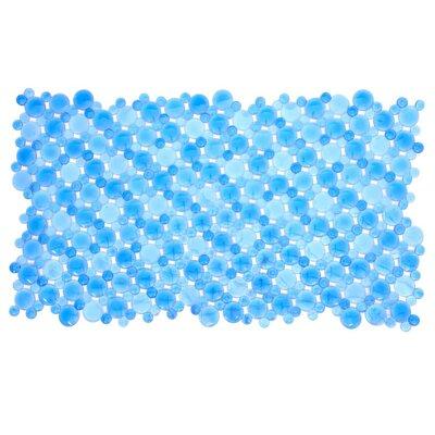 Burst of Bubbles Bath Mat Color: Blue
