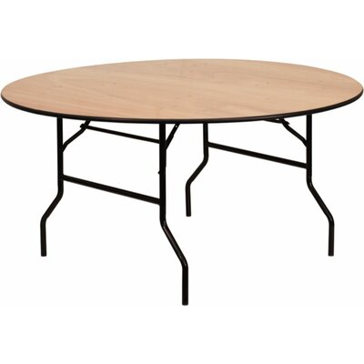 """60"""" Round Banquet Folding Table Size: 30"""" H x 72"""" W x 72"""" D, Finish: Natural/Black"""