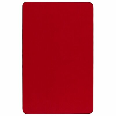 """Thermal Fused Laminate Top 72"""" L x 30'' W Rectangular Activity Table Tabletop Finish: Red"""