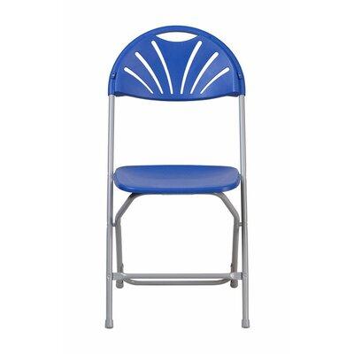 Metal Folding Chair Color: Blue