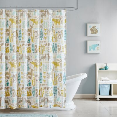 Ducey Cotton Printed Shower Curtain