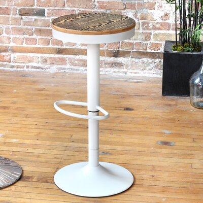 Camellia Adjustable Height Swivel Bar Stool Base Finish: White