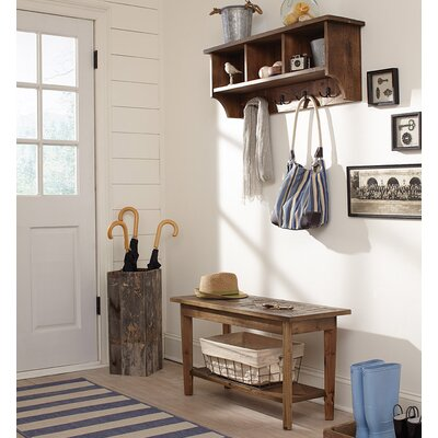 Dhaval Wall Mounted Coat Rack with Bench