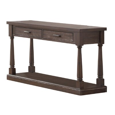Fortunat Console Table Color: Espresso