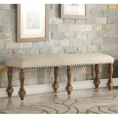 Fortunat Upholstered Bench Color: Gray