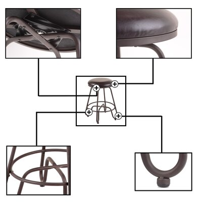 "Eagleswood 26"" Swivel Metal Bar Stool"
