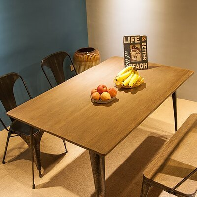 """Barber Metal Dining Table Size: 47.2""""L X 23.6""""W X 30""""H"""