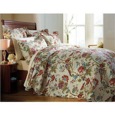 Diana Cowpe Birds and Fower Quilted Bedspread Set