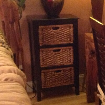 Water Hyacinth 3 Drawer Chest