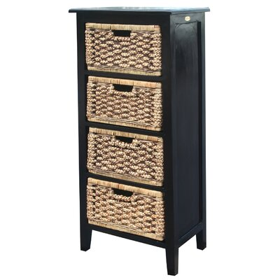 Water Hyacinth 4 Drawer Chest