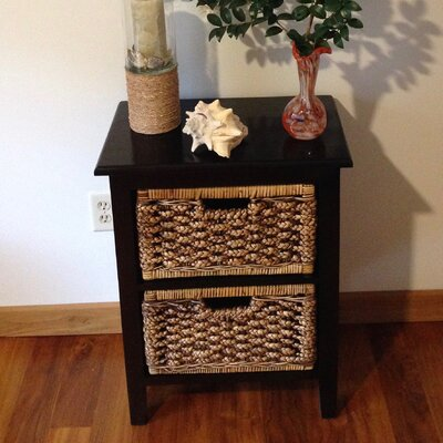 Water Hyacinth 2 Drawer Chest