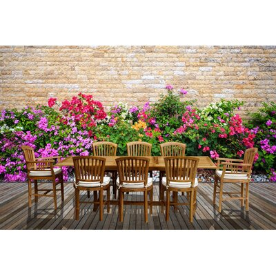 9 Piece Teak Orleans Set with Cushions