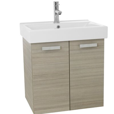 "Cubical 24"" Single Wall Mount Bathroom Vanity Set Base Finish: Larch Canapa"