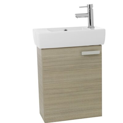 "Cubical 19"" Single Wall Mount Bathroom Vanity Set Base Finish: Larch Canapa"