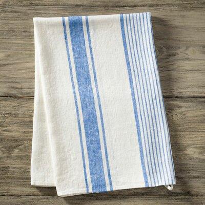 Pure Linen Bath Towel Color: Blue