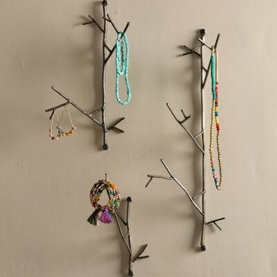 Scotts Valley Metal Twig 3 Piece Wall Hook Set