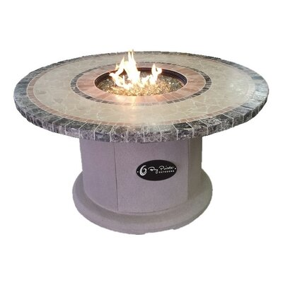 "Designer Series Stone Propane Fire Pit Table Size: 25"" H x 42"" W x 42"" D"