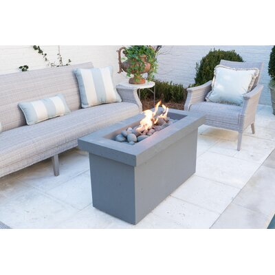 Urban Series Stone Propane Fire Pit Table Finish: Storm Gray